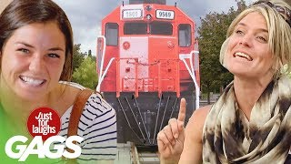 Ghillie Suits, Falling Clowns, & Oncoming Trains | JFL Throwback Pranks