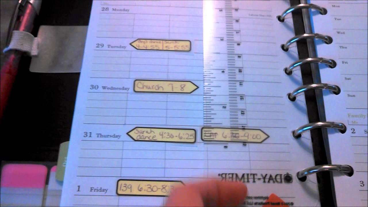 My Personal Planner Daytimer Family Plus YouTube – Daytimer Planner