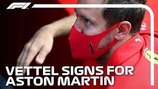 Sebastian Vettel Signs For Aston Martin