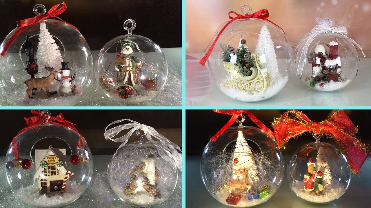 Diy Clear Glass Ornaments For Christmas And New Year  E E Bb Anastasia Youtube