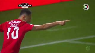 Goal | Golo Jonas: Tondela 1-(1) Benfica (Liga 18/19 #10)