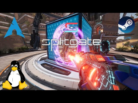 Splitgate - Linux | Gameplay
