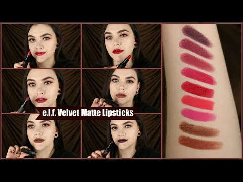 Velvet Matte Lipstick (Ruby Red)