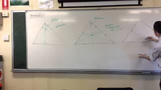 Triangle Centres (Orthocentre, Centroid & Circumcentre)
