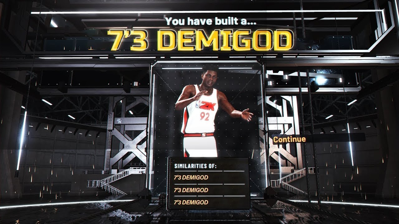 7 3 Demigod No Glitch The Most Op Center Build Nba 2k20 Tutorial Youtube
