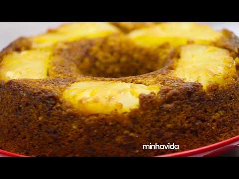 Bolo de abacaxi integral | RECEITA 1 MINUTO