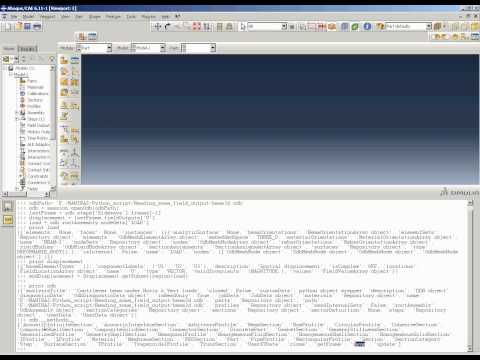 Abaqus Script using Python: Reading field output