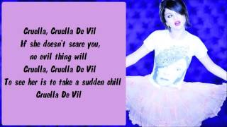 Selena Gomez - Cruella De Vil (BV) Karaoke / Instrumental with lyrics on screen