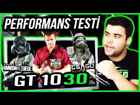 MSi GT 1030    Gta 5 - Rainbow Six Siege - Cs:Go Oyun Performans Testi (1080p)