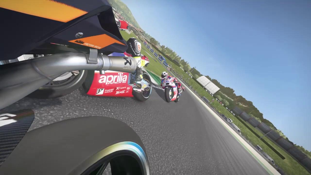 MotoGP™17 - MUGELLO - KTM - Rear Camera - Battle for 8th Position! - YouTube