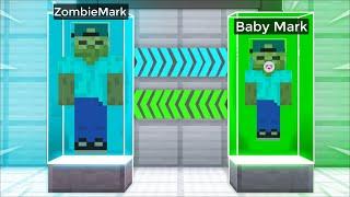 TURNING Into BABY ZOMBIE MARK !! Minecraft !!