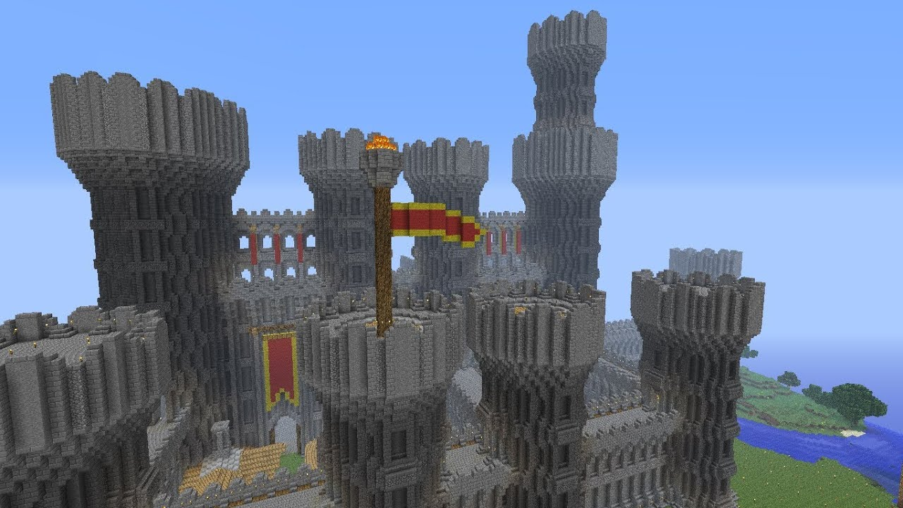 Minecraft Castle Progress Episode 41 Flags And Banners Youtube