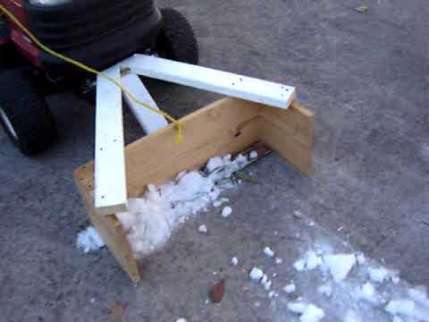 Home Made Snow Plow on Craftsman 20HP Riding Mower