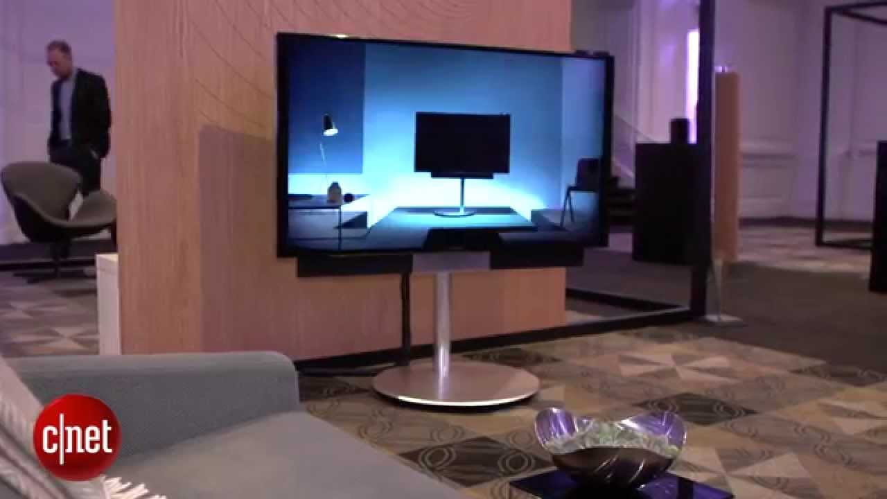 bang and olufsen beovision avant provides motorised stand. Black Bedroom Furniture Sets. Home Design Ideas