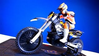 RC ADVENTURES - Unboxing a 1/4 scale ARX RTR Cross Off Road Electric Motorcycle with e-Gyro