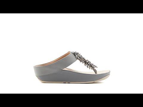 6103c7a2dd2c FitFlop Rumba Beaded Toe Post Sandal - YouTube