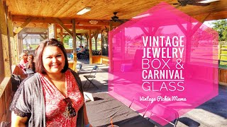 Vintage Jewelry Box &amp Carnival Glass -Kissimmee Pioneer Village Antiques &amp Appraisal Fair