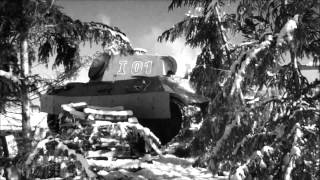 Panther tank replica in Bastogne 2014 video Acker Mann.