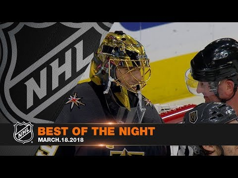 Karlsson and DeBrincat tally hat tricks in best of the night