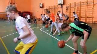 Фрагмент урока по баскетболу (часть 2)