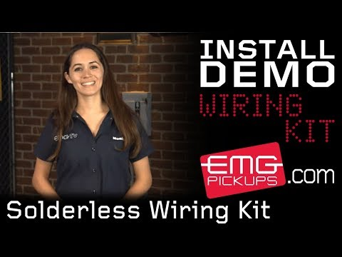 Solderless wiring kit installation with Monique on EMGtv