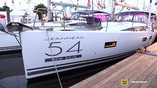 2016 Jeanneau Yachts 54 - Deck and Interior Walkaround - 2015 Annapolis Sail Boat Show