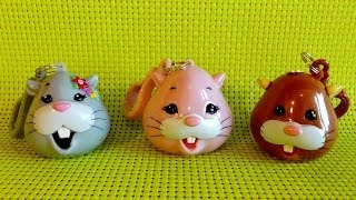 3 X Zhu Zhu Pets Candy Dispenser With Lollipop Opening Toys
