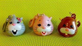 3 X Zhu Zhu Pets Candy Dispenser With Lollipop Opening Toys