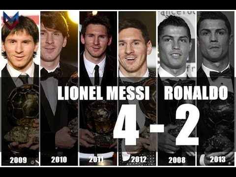 C.Ronaldo VS L.Messi Ballon D'Or • 2008, 2013 / 2009, 2010, 2011, 2012 •