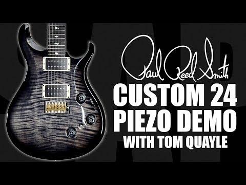 PRS Custom 24 Piezo Electric Guitar Demo With Tom Quayle