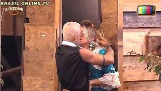 A Fazenda - Aos beijos  Monick fica irritada com Yuri: