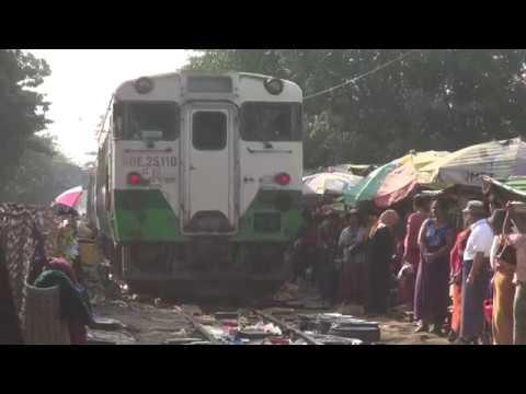 Trains of Myanmar railways(MR)(Jan., 2018)  4   ミャンマー国鉄の列車(2018年1月) 4