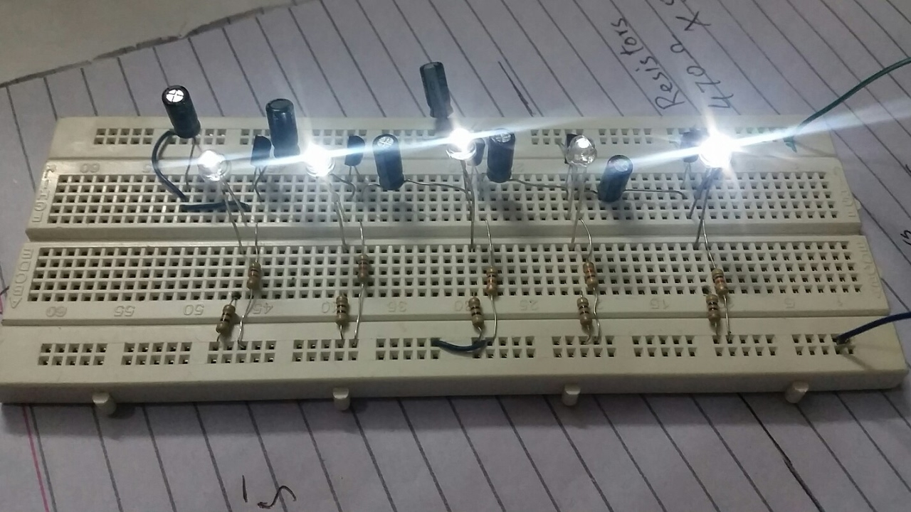 Mini Project LED Chaser Using Transister BC547 - YouTube