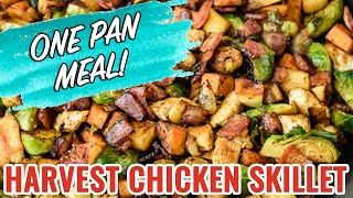 With sweet potatoes, apples, Brussels sprouts and bacon, this healthy Paleo and Whole30 approved chicken skillet is packed with flavor and delivers every food ...
