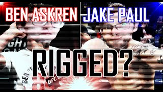 Ben Askren Vs Jake Paul Rigged?