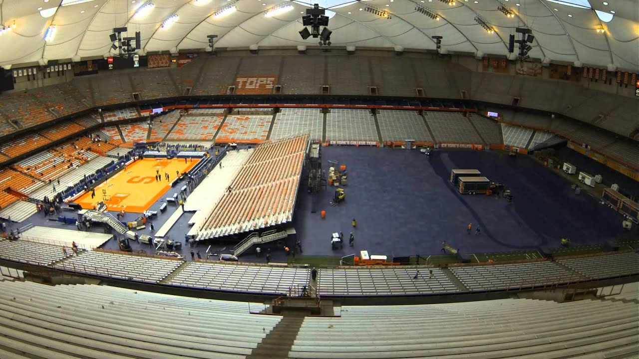 Carrier Dome Transitions From Basketball To Lacrosse