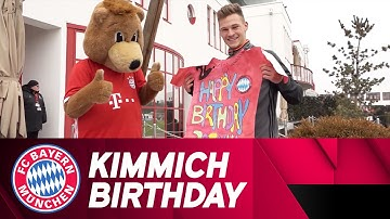Surprise Birthday Presents for FCB KidsClub Captain Kimmich!