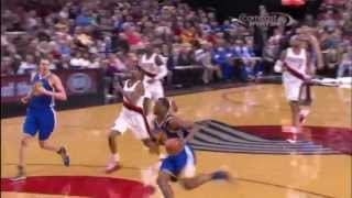 harrison barnes double clutch dunk vs the portland trailblazers 4 17 13