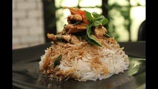 Sliced Chicken With Baby Corn in Oyster Sauce  Oriental Recipes  Sanjeev Kapoor Khazana