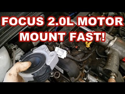 FORD FOCUS MOTOR MOUNT REPLACEMENT FAST 2014 engine ... on