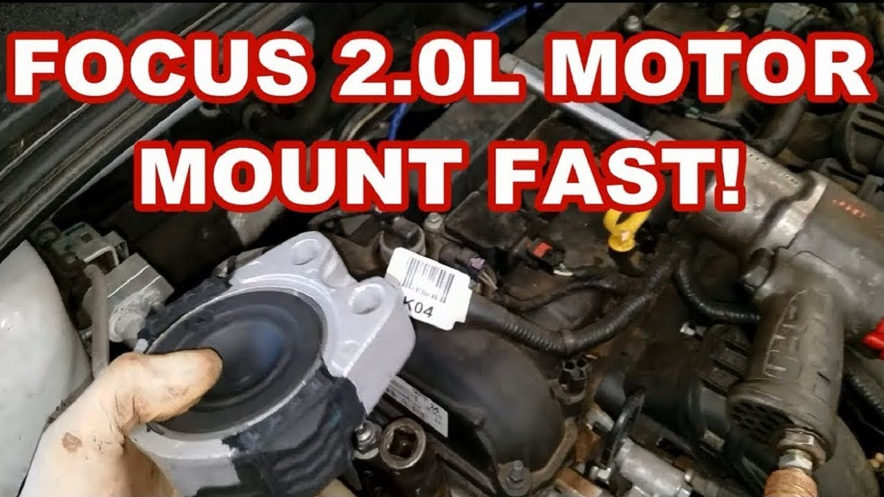 FORD FOCUS MOTOR MOUNT REPLACEMENT FAST 2014 engine vibrating at idle -  YouTubeYouTube