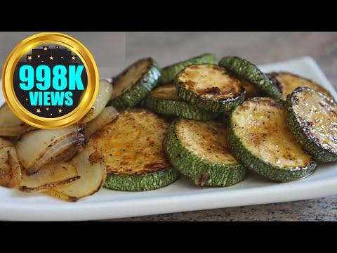 sautéed-zucchini-recipe-|-courgette-pan-frying-vegan-recipe