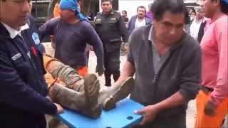 OBREROS HERIDOS SON LLEVADOS AL HOSPITAL REZOLA CAÑETE