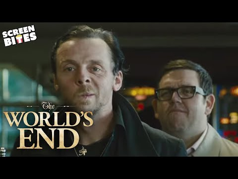 The World's End - The first pub. Simon Pegg, Nick Frost, Edgar Wright