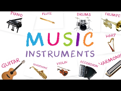 Musical Instruments for Kids with Sound | Learn Names of Musical Instruments with Sound