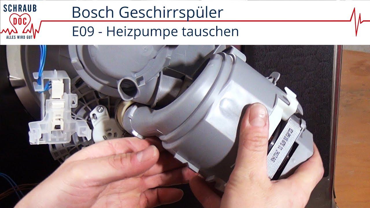 Reparaturanleitung Bosch Geschirrspuler Heizpumpe Tauschen Youtube