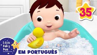 Desenho para Bebe   Canção do Banho V2   Canções para Bebe   Little Baby Bum em Português