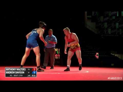 182 1st Place  Andrew Davison Indiana vs. Anthony Walters Pennsylvania