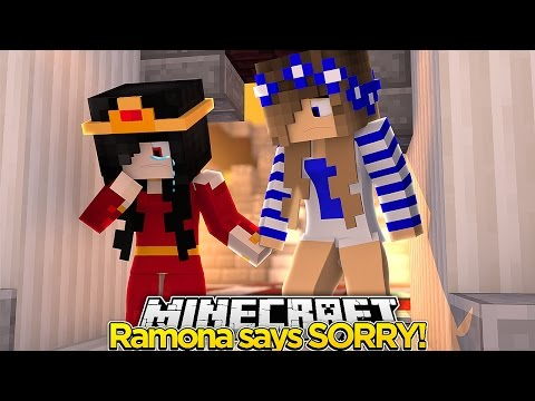 Minecraft The Apology-RAMONA SAYS SORRY!! w/Little Carly!!