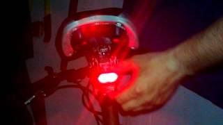 Solarna LED bljeskalica za bicikl - zadnje svjetlo [solar rear bicycle light]